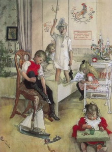 Carl Larsson, Christmas Morning, 1894