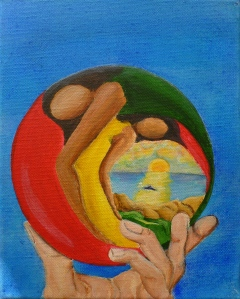 Margaret Mair, World in our Hands, Christmas 2011, Original Art