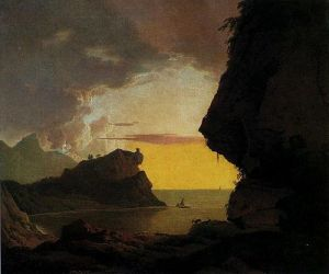 Joseph Wright of Derby, Sunset on the Coast near Naples, 1785