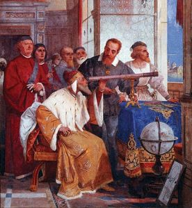 Giuseppe Bertini, fresco of Galileo Galilei and the Doge of Venice