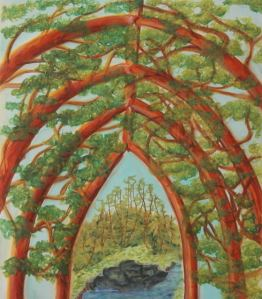 Margaret Mair, Nature's Cathedral, Original Art